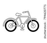 vintage bicycle symbol | Shutterstock .eps vector #794620771
