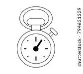 vintage sport chronometer | Shutterstock .eps vector #794621329