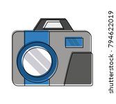 vintage photographic camera | Shutterstock .eps vector #794622019