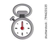 vintage sport chronometer | Shutterstock .eps vector #794623135