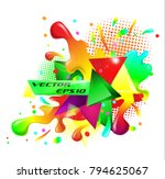 colored abstraction rainbow... | Shutterstock .eps vector #794625067