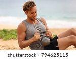 russian twist exercise fitness... | Shutterstock . vector #794625115