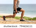 lunge leg workout with... | Shutterstock . vector #794626111