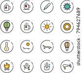 line vector icon set   tea... | Shutterstock .eps vector #794627689
