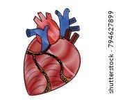 human heart organ | Shutterstock .eps vector #794627899