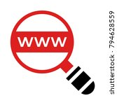 search browsing magnifier | Shutterstock .eps vector #794628559