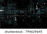 cityscape futuristic 3d city... | Shutterstock . vector #794629645