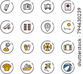 line vector icon set   suitcase ... | Shutterstock .eps vector #794630239