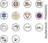 line vector icon set  ... | Shutterstock .eps vector #794630341