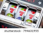 gambling slot machine in close... | Shutterstock . vector #794631955