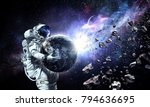 spaceman carry his mission.... | Shutterstock . vector #794636695