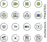 line vector icon set   play... | Shutterstock .eps vector #794637031