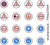line vector icon set   no... | Shutterstock .eps vector #794637049