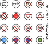 line vector icon set   airport... | Shutterstock .eps vector #794637139