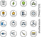 line vector icon set   pull ups ...   Shutterstock .eps vector #794637151