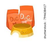 dog food vector simple...   Shutterstock .eps vector #794638417