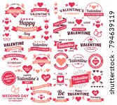 valentine template banner...   Shutterstock .eps vector #794639119