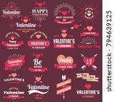 valentine template banner... | Shutterstock .eps vector #794639125