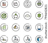 line vector icon set   spoon... | Shutterstock .eps vector #794642821