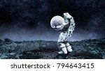 spaceman carrying his mission.... | Shutterstock . vector #794643415