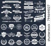 vintage retro vector logo for... | Shutterstock .eps vector #794644027