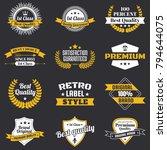 vintage retro vector logo for... | Shutterstock .eps vector #794644075