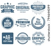 vintage retro vector logo for... | Shutterstock .eps vector #794644099