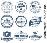 vintage retro vector logo for... | Shutterstock .eps vector #794644105