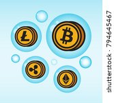 bitcoin cryptocurrency in a... | Shutterstock .eps vector #794645467