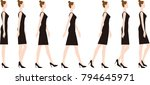 a woman wearing high heels. how ... | Shutterstock .eps vector #794645971