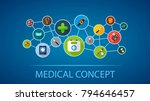 medical flat icon concept.... | Shutterstock .eps vector #794646457