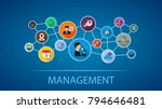management flat icon concept.... | Shutterstock .eps vector #794646481