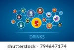 drinks flat icon concept.... | Shutterstock .eps vector #794647174