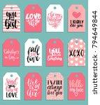 vector hand lettering phrases... | Shutterstock .eps vector #794649844