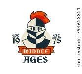 middle ages logo  esc 1975 ... | Shutterstock .eps vector #794653351