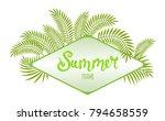rhombus tropical frame ... | Shutterstock .eps vector #794658559