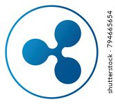 ripple crypto vector icon | Shutterstock .eps vector #794665654