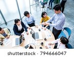 planning meeting at company | Shutterstock . vector #794666047