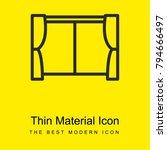 window bright yellow material...