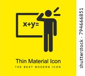 maths bright yellow material...