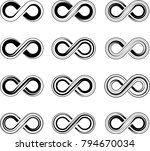 infinity sign collection vector ... | Shutterstock .eps vector #794670034