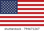united states of america flag | Shutterstock .eps vector #794671267