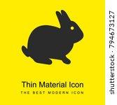 sitting rabbit bright yellow...
