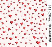 seamless pattern for valentine... | Shutterstock .eps vector #794674534