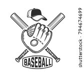 emblem with crossed baseball... | Shutterstock .eps vector #794674699