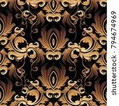 damask vector seamless pattern. ... | Shutterstock .eps vector #794674969
