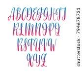calligraphic vector script font.... | Shutterstock .eps vector #794678731