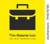 briefcase bright yellow... | Shutterstock .eps vector #794678785