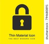 padlock bright yellow material...