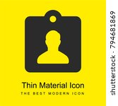 id card bright yellow material...